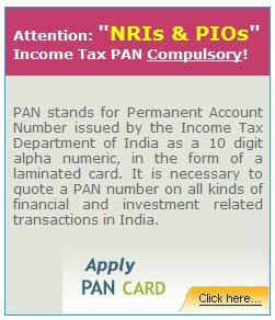 PAN Card for NRIs, PIOs & OCIs